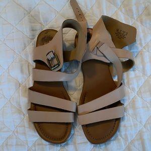 Franco Sarto Nude Strappy Sandals